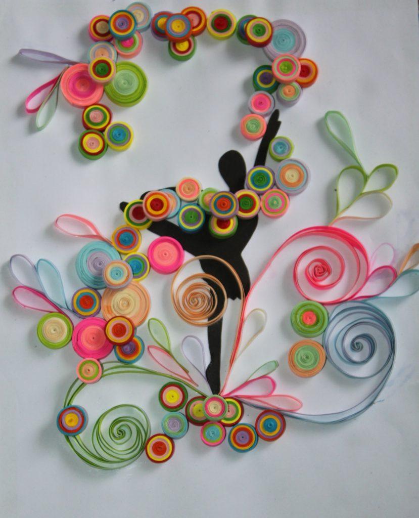 balerina quilling paper