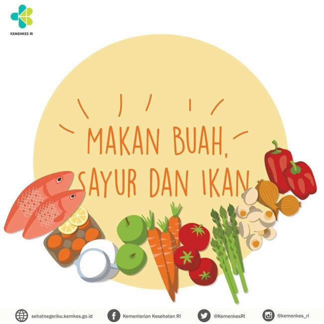 makan buah sayur ikan
