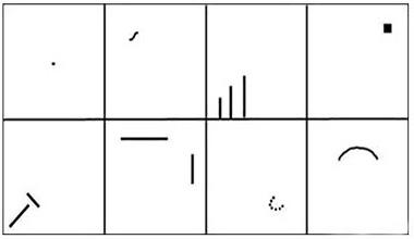 gambar dan titik pada tes wartegg