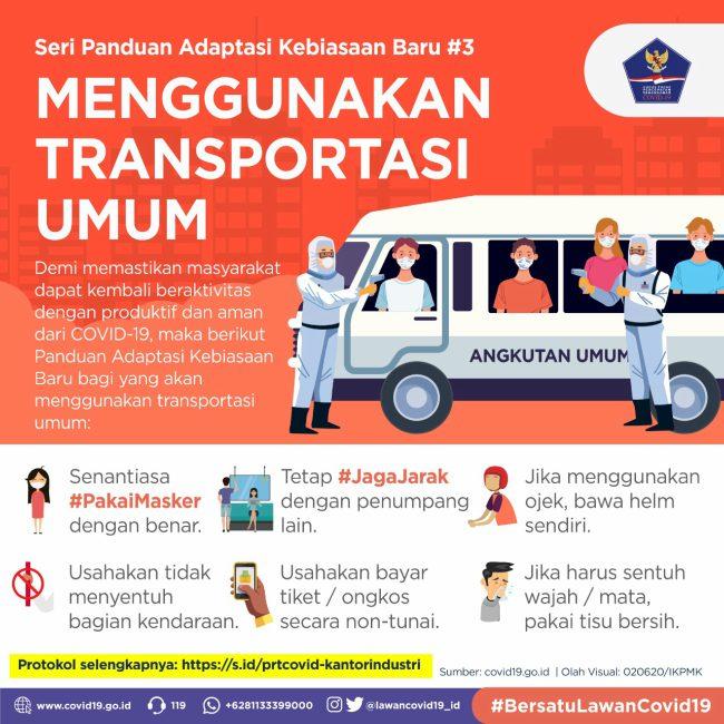 adaptasi kebiasaan baru menggunakan transportasi umum