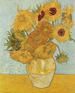 bunga dengan 12 warna karya van gogh
