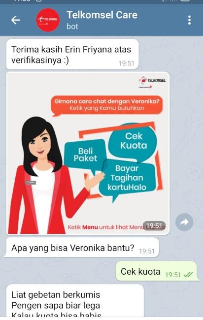 chatbott tanya veronika asisten virtual