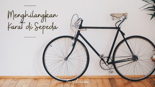 cara menghilangkan karat pada sepeda