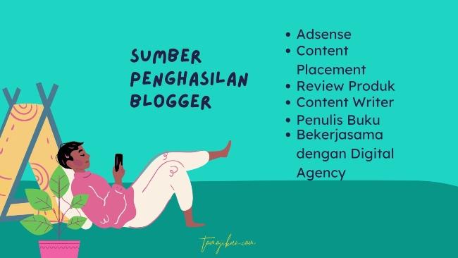 sumber penghasilan blogger pemula