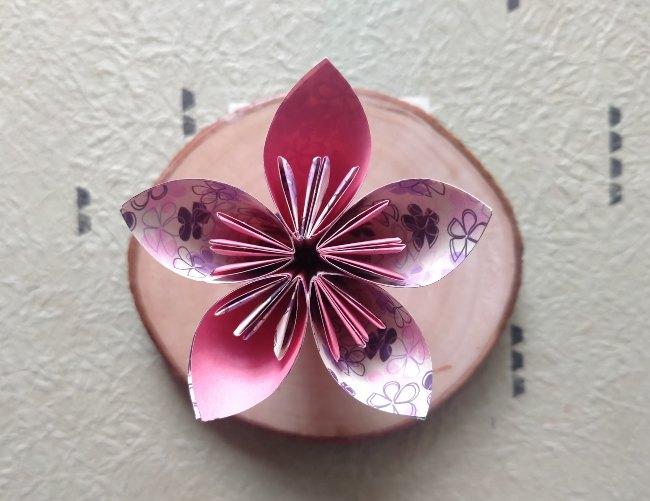 bunga kertas origami cantik
