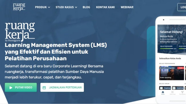 learning management system ruangkerja