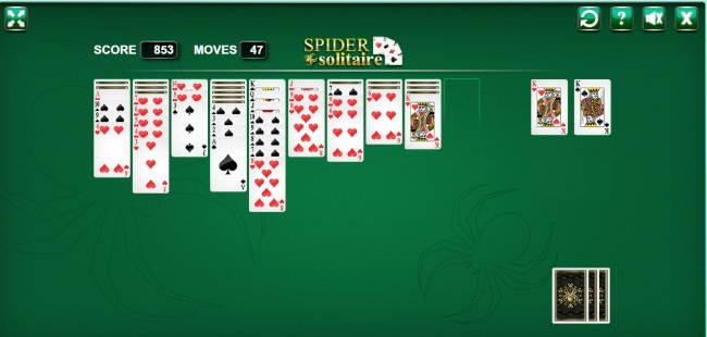 game spider solitaire