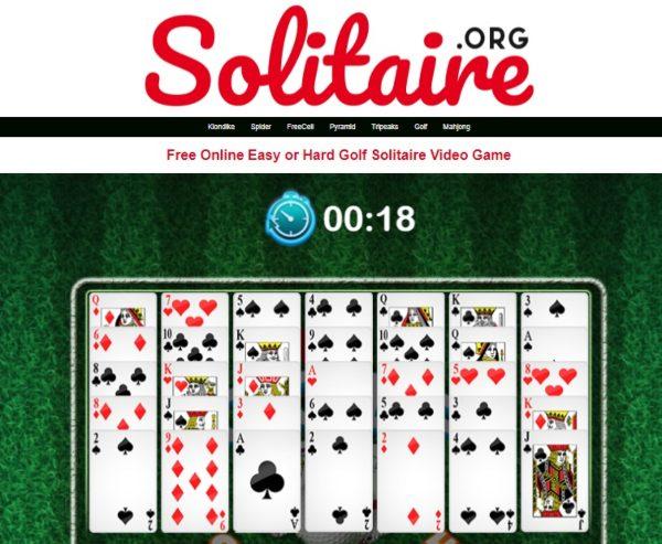 bermain golf solitaire